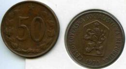 Tchécoslovaquie Czechoslovakia 50 Haleru 1970 KM 55.1 - Tchécoslovaquie