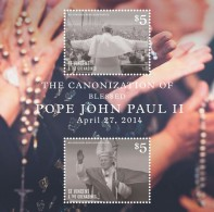 St Vincent 2014 - Canonisation Du Pape John Paul II - BF Neufs // Mnh - St.Vincent & Grenadines