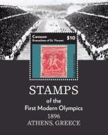 St Vincent (Canouan) 2015 - Timbres Des 1ers Jeux Olympiques, Athènes 1896, Timbres Sur Timbres - BF Neufs // Mnh - St.Vincent & Grenadines