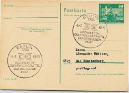 NACHRICHTENÜBERTRAGUNGSMITTEL POST Berlin 1980 Auf  DDR  Postkarte P 79 - Post