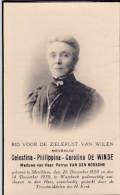 1850 1939 Celestina De Winde Merchtem Wambeek Druk. Leuven Reekmans Doodsprentje Bidprentje Image Mortuaire - Devotion Images