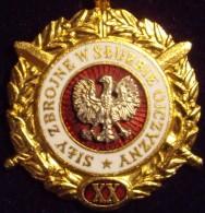 POLONIA. MEDALLA XX AÑOS DE SERVICIO EN LAS FUERZAS ARMADAS - Fichas Y Medallas