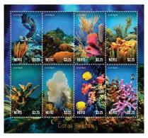 NEVIS 2014 - Faune Marine, Coraux - Feuillet 8 Val Neufs // Mnh - St.Kitts-et-Nevis ( 1983-...)
