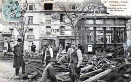 76 Rouen Place Beauvoisine Réfection De La Voie Des Tramways 1906 - Rouen