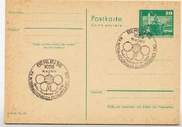 OLYMPISCHER TAG  Berlin 1977 Auf  DDR  Postkarte P 79 - Francobolli
