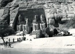 FOTO Abu Simbel, Tempel Ramses II., Vor Verlegung, Ca. 1950/1955, Original, - Abu Simbel