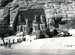 FOTO Abu Simbel, Tempel Ramses II., Vor Verlegung, Ca. 1950/1955, Original, - Temples D'Abou Simbel