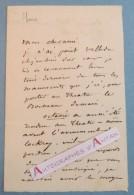 L.A.S Auguste LIREUX Journaliste Odéon à DESNOYERS Théâtre Français Manuscrit Velléda Octavie Lettre Autographe ROUEN - Autographes