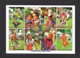 INDIENS DU QUÉBEC - INDIENS AMÉRINDIENS ET POWWOW (ASSEMBLÉE) PREMIÈRES NATIONS  17 X 12 Cm - 6¾ X 4¾ Po  PAR ZEE MEDIA - Indiens De L'Amerique Du Nord