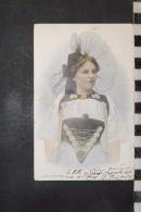 CP, Suisse, Femme En Costume Folklore Tradition Us Et Coutume   Edition Kaiser And Co BERN Dos Simple Precurseur 1902 - Suisse