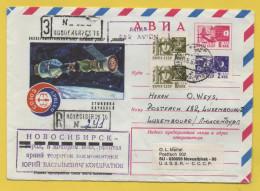 Raumfahrt / Russland / Moskau / Novosibirsk -  Einschreiben Vom 28.8.1975 - Weltraum - Raketen - Rusland En USSR