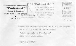 Enfance: Une Enveloppe Entière De Hendaye : ''Enfant Roi'' - Kind & Jugend