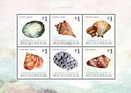 Micronesia 2013 - Faune Marine, Coquillages - BF 6 Val Neufs // Mnh - Micronésie