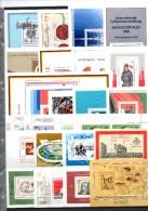Topics GDR 25 Bl./KB 1969-1989 DDR ** 51€ Natur Technik Politik Blocs Art Bloques Hb Sport M/s History Sheets Bf Germany - [6] Democratic Republic
