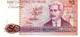Brazil P.210a  50 Cruzados 1986 Unc - Brazil