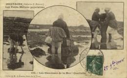 BRETAGNE - D 22 - Les Petits Métiers Populaires - Les Glaneuses De La Mer - Cueillette - Postée à Merdrignac - Other