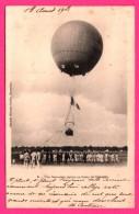 Montgolfière - Une Ascension Captive Au Camp De Châlons - Belle Animation - LIBRAIRIE MILITAIRE GUÉRIN - 1903 - Globos