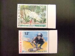 WALLIS ET FUTUNA WALLIS Y FUTUNA 1998 LA PÊCHE Au LAGON Yvert & Tellier Nº 518 /19 ** MNH - Wallis Y Futuna