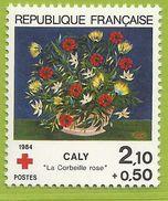 France 1984 2345 ** Peintures Croix-Rouge Caly La Corbeille Rose Fleurs - Red Cross