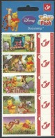 Belgium**WINNIE The POOH-BOOKLET 5 Duostamps-sealed-CARTOONS-BD-BANDES DESSINEES-NSC-2004 - Bélgica