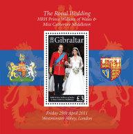Gibraltar 2011 Mih. 1430 (Bl.101) Royal Wedding MNH ** - Gibraltar