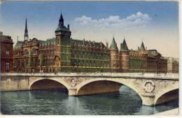 PARIS -   FM  1940, Feldpost-Stempel - Le Palais De Justice Et Le Pont Au Change - Ponti