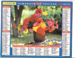 CALENDRIER - ALMANACH DU FACTEUR 1997  - Départements 75-92-93-94 - FLEURS - Big : 1991-00