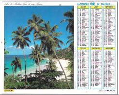 CALENDRIER - ALMANACH DU FACTEUR 1991  - Départements 75-92-93-94 - PAYSAGES - Groot Formaat: 1991-00