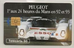 Peugeot  905 - 24 Heures Du Mans En 92 Et 93 - 50 U - - France