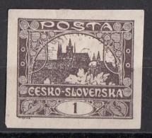 23 Cecoslovacchia 1919 Hradcany At Prague -Nuovo - Imperforato CZECHOSLOVAKIA - Cecoslovacchia