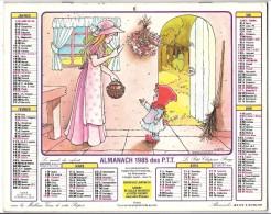 CALENDRIER - ALMANACH 1985 Des PTT  - Départements 75-92-93-94 - Illustration - Big : 1981-90