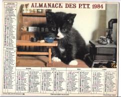CALENDRIER - ALMANACH 1984 Des PTT  - Département SEINE ET MARNE - Big : 1981-90