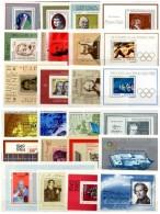 GDR/DDR 24 Blocks Bl.33,40,51,54,57,59-61,67,69,82 Bis 101 ** 55€ Kunst Hoja Hb Music Ms Art Blocs Art Sheets Bf Germany - Erinnofilie