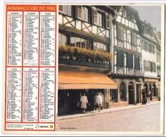 CALENDRIER - ALMANACH 1982 Des PTT  - Départements 75-92-93-94 - Obernai/Hunspach - Big : 1981-90