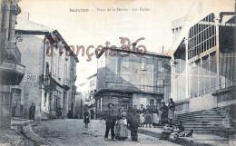 (34) Servian - Place De La Mairie Hotel De Ville - Les Halles  - 2 SCANS - France
