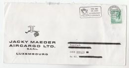 1984 AIRCARGO ADVERT Cover CFL LUXEMBURG RAILWAY 125th ANNIV Train SLOGAN Pmk - Covers & Documents