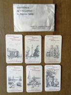 """Série Complète De 6 Carte Parfumée - """" Parfum BIETTE """" - Exposition Nantes 1924 - Imprimerie Moderne Beuchet - Perfume Cards"""