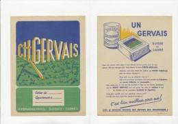 Publicité - Protege-Cahier - GERVAIS - Buvards, Protège-cahiers Illustrés
