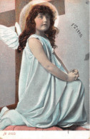 CPA Fantaise - Ange - Illustrateur - 1er Avril - Je Crois - Engel