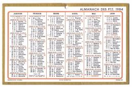 CALENDRIER 1984 - Format  21 X 13.5 Cm - Calendars