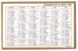 CALENDRIER 1990 - Format  21 X 13.5 Cm - Big : 1981-90