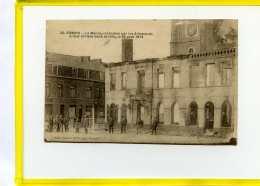 SOMAIN LA MAIRIE INCENDIEE PAR LES ALLEMANDS 24 AOUT 1914   Postée 1920 - Other Municipalities