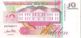 Suriname - Pick 137b - 10 Gulden 1996 - Unc - Surinam