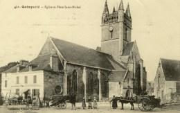 QUIMPERLE - D 29 - Église Et Place Saint-Michel - Beau Plan - Quimperlé
