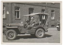 Militaria.Foto/Photo.  Militaire, Chien & Jeep. A Situer. - War, Military