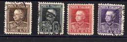 EFFIGIE VITTORIO EMANUELE III SERIE COMPLETA USATA - 1900-44 Vittorio Emanuele III