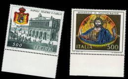 Italia - Italy 1987 Patrimonio Culturale (Teatro San Carlo - Duomo Monreale) 2v Complete Set  ** MNH - 6. 1946-.. Repubblica