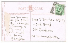 RB 1086 - 1905 Postcard With Error Middleton (Lang For Lanc) Squared Circle Postmark - Bettws-y-Coed View - Covers & Documents