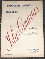 Espagne Islas Canarias - Îles Canaries - Paso Double - Partition Musicale - Partitions Musicales Anciennes