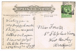 RB 1086 - 1912 Postcard Hunmanby Squared Circle Postmark - St Oswald's Church Filey - 1902-1951 (Könige)